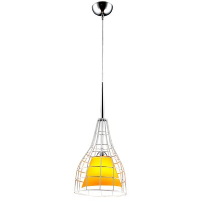 Nixon 1-Light Mini Pendant Glass Color: Yellow
