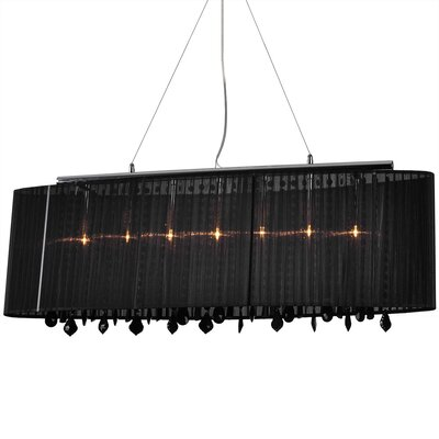 Jasmine 5-Light Pendant Shade Color: Black