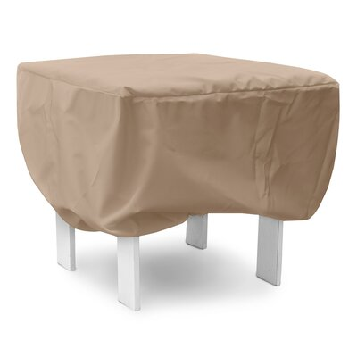 Weathermax Ottoman/Small Table Cover Size: 16 H x 26 W x 26 D, Color: Toast