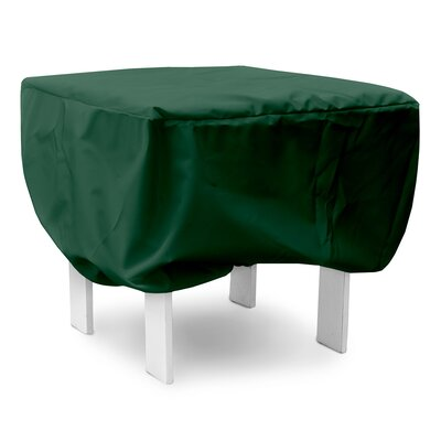 Weathermax Square Table Cover Size: 15 H x 24 W x 24 D, Color: Forest Green