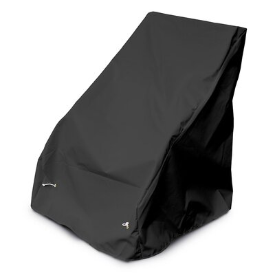 Weathermax Armless Seating Cover Color: Black