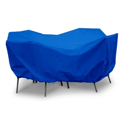 Weathermax Round Table Dining Set Cover Color: Pacific Blue, Size: 28 H x 82 W x 82 D