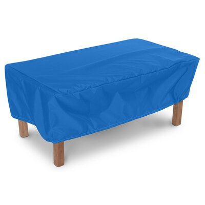 Weathermax Rectangular Ottoman/Small Table Cover Color: Pacific Blue, Size: 15 H x 30 W x 42 D