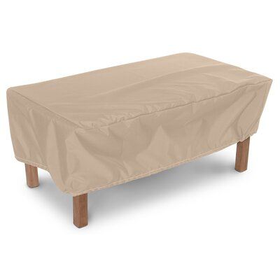 Weathermax Rectangular Ottoman/Small Table Cover Size: 20 H x 32 W x 25 D, Color: Toast