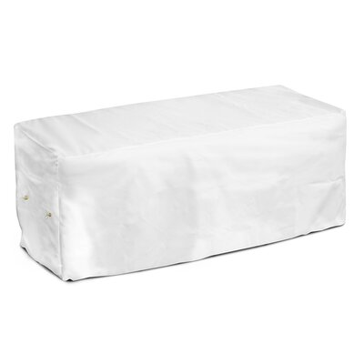 Weathermax Garden Seat Cover Color: White, Size: 18 H x 63 W x 28 D