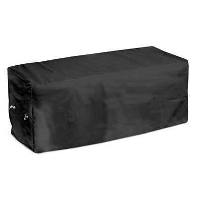 Weathermax Garden Seat Cover Size: 18 H x 63 W x 28 D, Color: Black