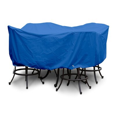 Weathermax� Large Bar Set Cover with Umbrella Hole Color: Pacific Blue