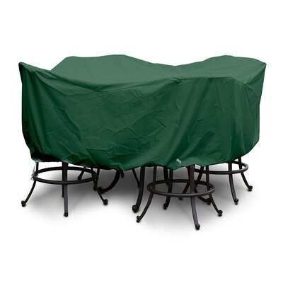 Weathermax Large Bar Set Cover with Umbrella Hole Color: Forest Green
