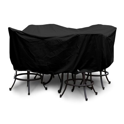 Weathermax Large Bar Set Cover with Umbrella Hole Color: Black