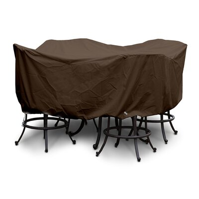 Weathermax� Large Bar Set Cover with Umbrella Hole Color: Chocolate