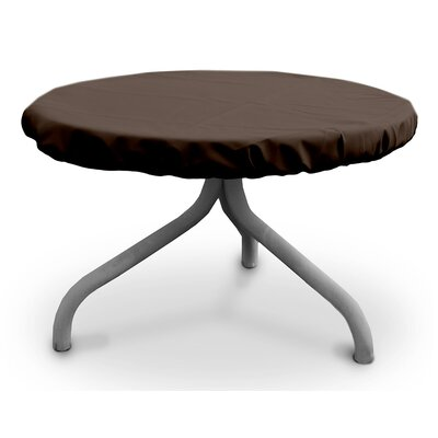 Weathermax Round Table Top Cover Size: 47 W x 47 D, Color: Chocolate