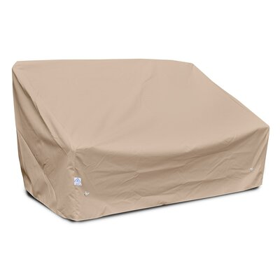 Weathermax Deep 2-Seat Sofa Cover Color: Toast, Size: 32 H x 58 W x 35 D