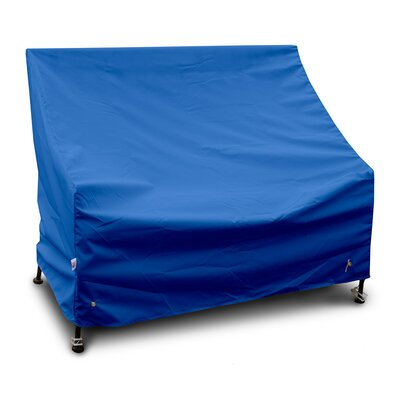 Weathermax Bench/Glider Cover Size: 36 H x 96 W x 25 D, Color: Pacific Blue