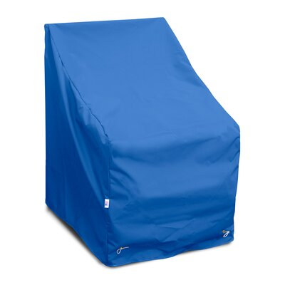 Weathermax High Back Chair Cover Size: 36 H x 29 W x 31 D, Color: Pacific Blue