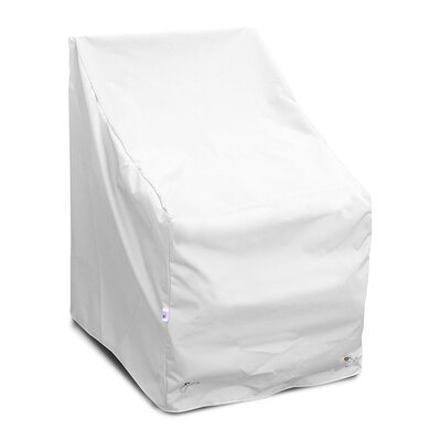 Weathermax High Back Chair Cover Size: 36 H x 29 W x 31 D, Color: White