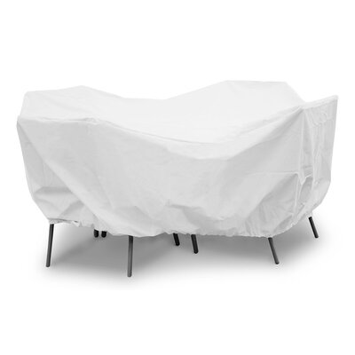 Weathermax Round Table Dining Set Cover Size: 28 H x 108 W x 108 D, Color: White