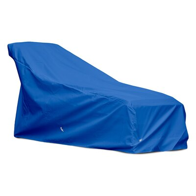 Weathermax Chaise Cover Color: Pacific Blue, Size: 32 H x 34 W x 73 D