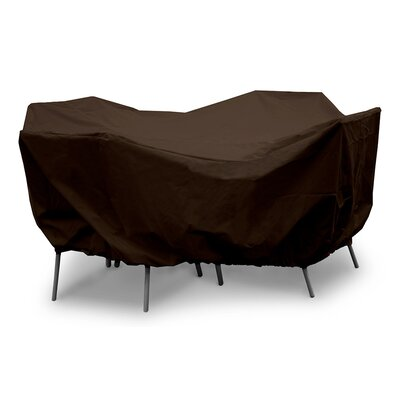 Weathermax Round Table Dining Set Cover Size: 28 H x 82 W x 82 D, Color: Chocolate