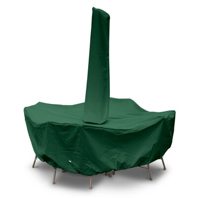 Weathermax Round Table Dining Set Cover with Umbrella Hole Size: 36 H x 114 W x 114 D, Color: Forest Green