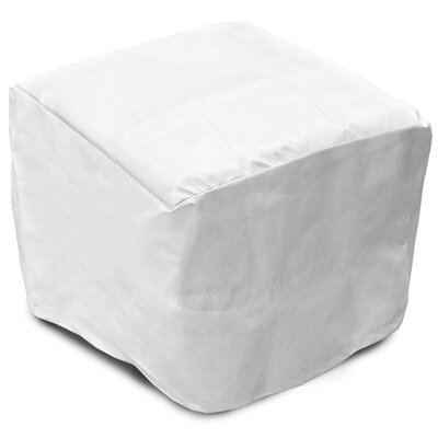 DuPont Tyvek Square Ottoman / Small Table Cover Size: 18 H x 41 W x 41 D