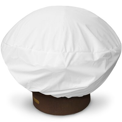 Weathermax Firepit Cover Size: 16 H x 35 W x 35 D, Color: White