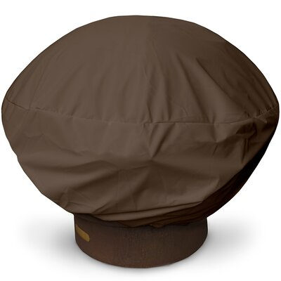 Weathermax Firepit Cover Size: 16 H x 35 W x 35 D, Color: Chocolate