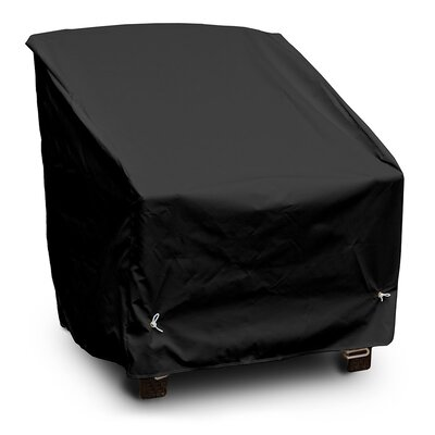Weathermax Deep Seating High-Back Lounge Chair Cover Color: Black