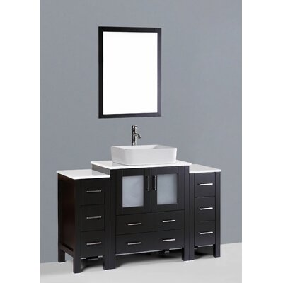 Netto 54 Single Bathroom Vanity Set with Mirror Base Finish: Espresso