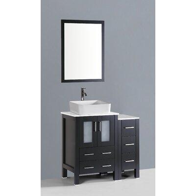 Brigantine 36 Single Bathroom Vanity Set with Mirror Base Finish: Espresso