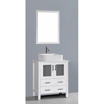 Netto 30 Single Bathroom Vanity Set with Mirror Base Finish: White