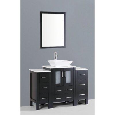 Netto 48 Single Bathroom Vanity Set with Mirror Base Finish: Espresso