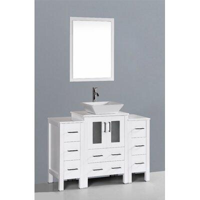Netto 48 Single Bathroom Vanity Set with Mirror Base Finish: White