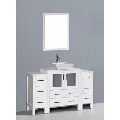 Netto 54 Single Bathroom Vanity Set with Mirror Base Finish: White