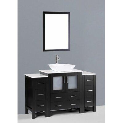 Netto 54 Single Bathroom Vanity Set with Mirror Base Finish: Espresso