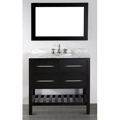 Cockrell 36 Single Bathroom Vanity Set with Mirror Base Finish: Black