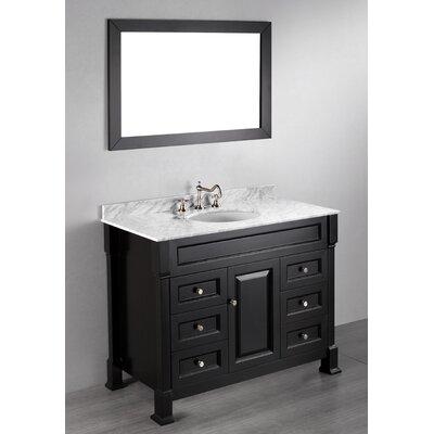 Rutland 43 Single Bathroom Vanity Set with Mirror Base Finish: Black