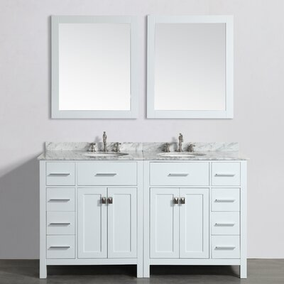61 Double Bathroom Vanity Set with Mirror