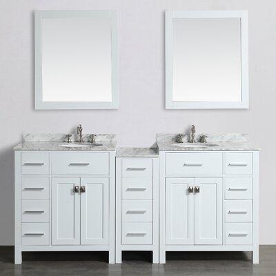 74 Double Bathroom Vanity Set with Mirror