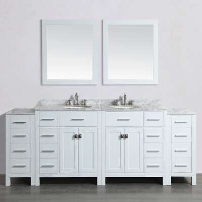 87 Double Bathroom Vanity Set with Mirror