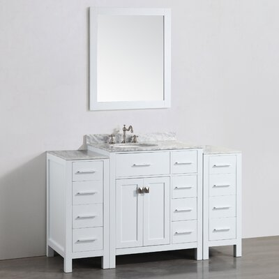 56 Single Bathroom Vanity Set with Mirror