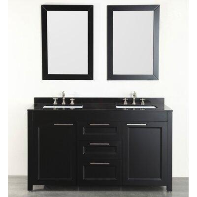 60 Double Bathroom Vanity Set with Mirror