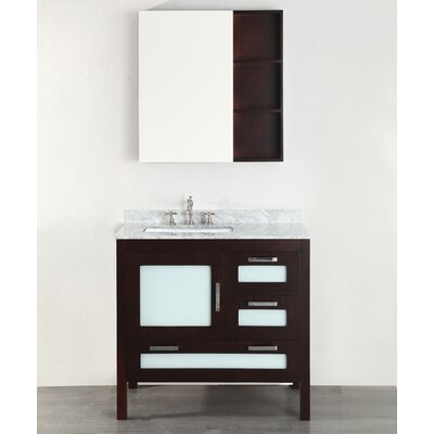 37 Single Bathroom Vanity Set with Mirror