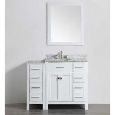 43 Single Bathroom Vanity Set with Mirror