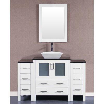 84 Single Vanity Set with Mirror