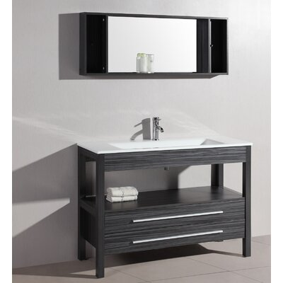 48 Single Contemporary Vanity Set with Mirror