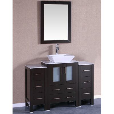 48 Single Vanity Set with Mirror Base Finish: Espresso