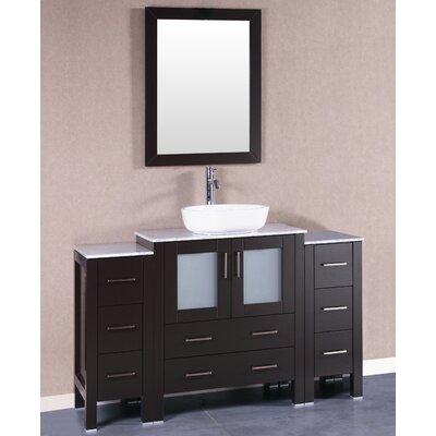 54 Single Vanity Set with Mirror Base Finish: Espresso