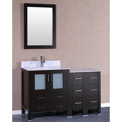 54 Single Vanity Set with Mirror Base Finish: Espresso