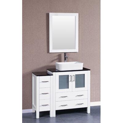 42 Single Vanity Set with Mirror Base Finish: White