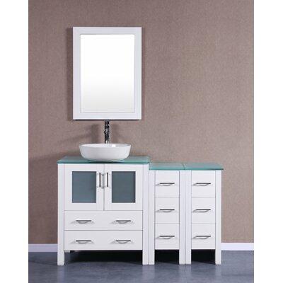 54 Single Vanity Set with Mirror